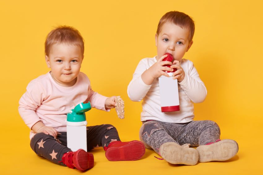 botellas agua niños