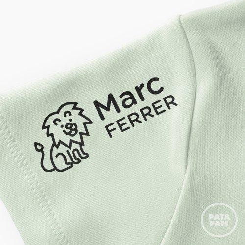 Sello marca ropa león