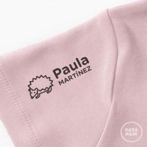 Sello para marcar ropa Patapam. Modelo puercoespin.