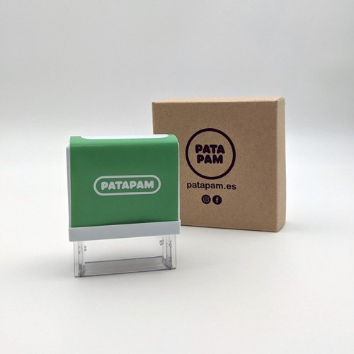 Sello-marcar-ropa-patapam-modelo-verde