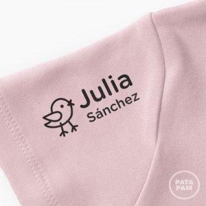 Sello marca ropa pajaro